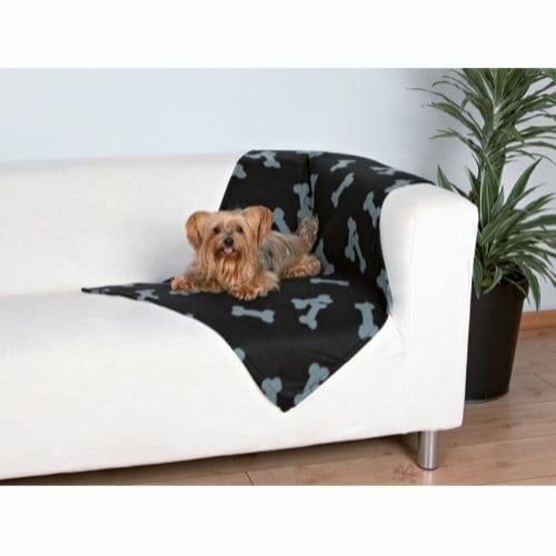 Trixie Beaney Fleeceteppe til Hund Sort 100 x 70 cm