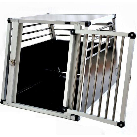 Aluminium hundebur til bil, Tor nr.4 -65x65x92cm
