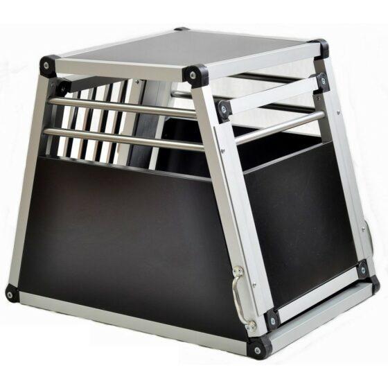 Aluminium hundebur til bil, Tor nr.1 -44x50x62cm
