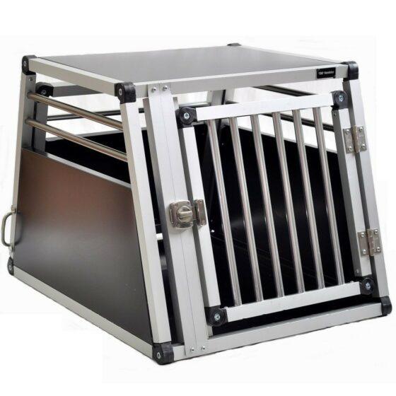 Aluminium hundebur til bil, Tor nr.2 - 54x50x72cm