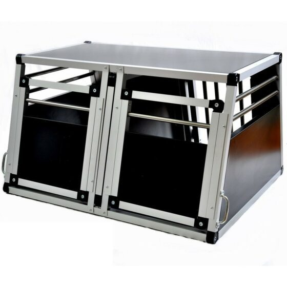 Aluminium hundebur til bil, Tor nr.5 -85x50x72cm dobbel