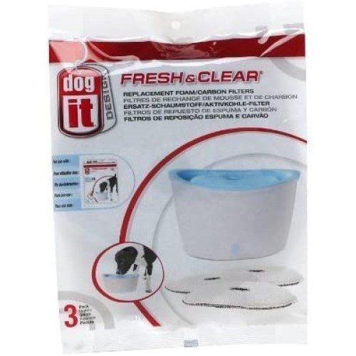 Kullfilter Fresh & Clear 3 stk. Passer til Dogit vannfontene 6 liter